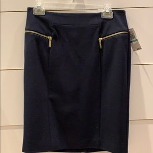 NWT Michael Kors Navy Blue Skirt. Sz 8